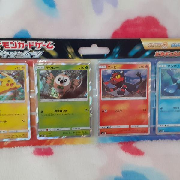 Set de cartas Pokémon sun & moon - japonês