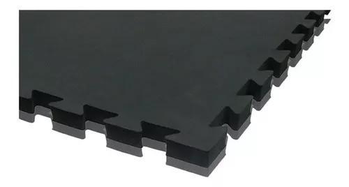 Tatame tapete eva 100x100x3cm 1x1 metro 30mm preto/cinza