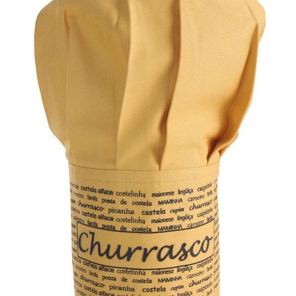 Chapéu de cozinheiro churrasco mostarda