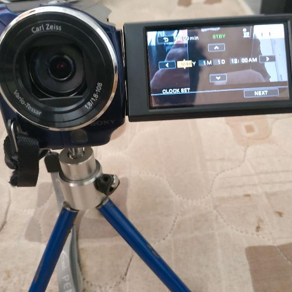 Câmera sony handycam dcr-sr68 hd 80 gb
