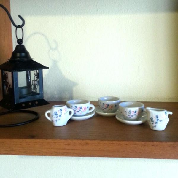 Conjunto de xícara de porcelana de flores