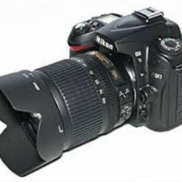 Máquina fotográfica nikon d90 +duas lentes + bolsa