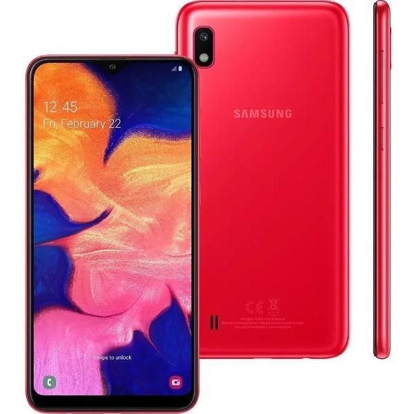 Samsung a10 vermelho 32gb tela de 6.2