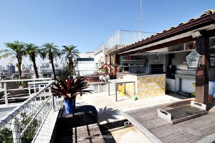 Apartamento à venda com 210m², vila olímpia, sp.