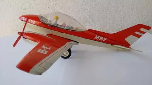 Avião de lata estrela rallye mbe brinquedo antigo