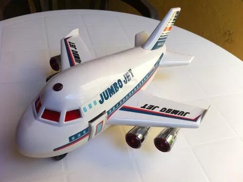 Avião jumbo jet air bus 400 brinquedo antigo plast mega top