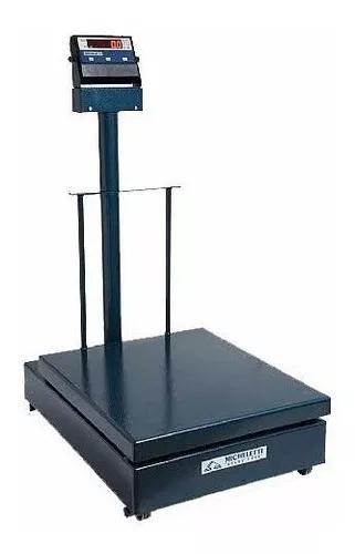 Balança 300kg eletromecânica digital 41x57 c/ coluna