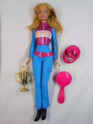Boneca barbie fashion corrida f1 brinquedo antigo mattel