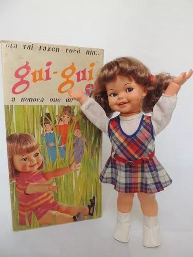 Boneca gui gui - estrela - anos 70 - funcionando! (bh)