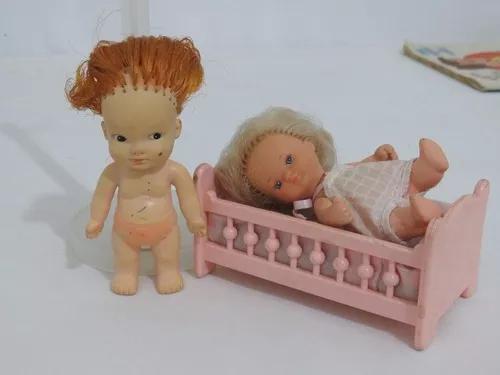 Boneca pupi mini doll no berço antiga estrela brinquedo