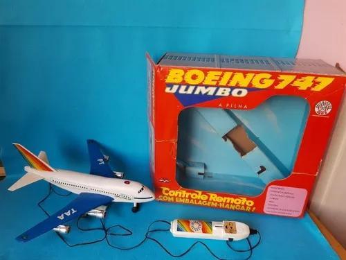 Brinquedo Antigo Avião Boeing747 Transbrasil Brinquedos Rei