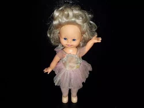 Brinquedo antigo boneca estrela bailarina a corda funciona
