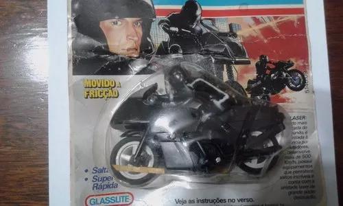 Brinquedo antigo moto laser glasslite anos 80