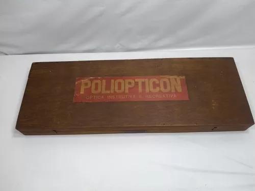 Brinquedo antigo, raro conjunto poliopticon primeira versão
