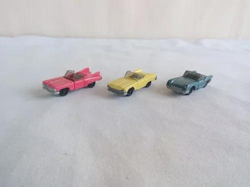 Brinquedo kinder ovo carros antigos cadillac e corvette os 3