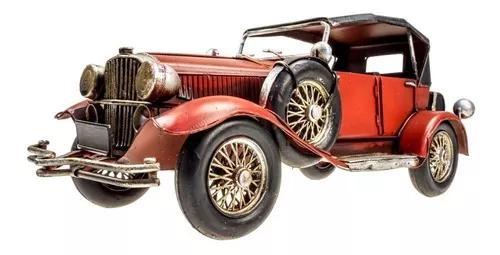 Carro ford calhambeque 1928 metal rústica antigo vermelho