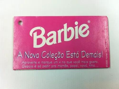 Encarte boneca barbie brinquedo antigo coleção 1999