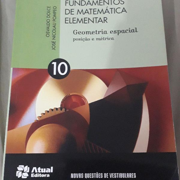 Fundamentos da matemática elementar volume 10 geometria