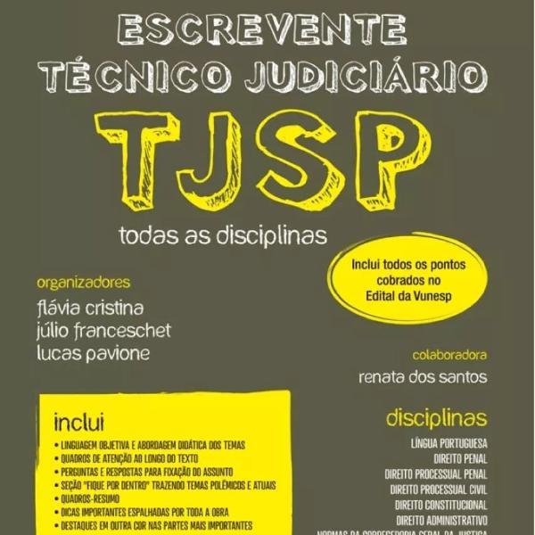 Livro tj sp escrevente tecnico judiciário