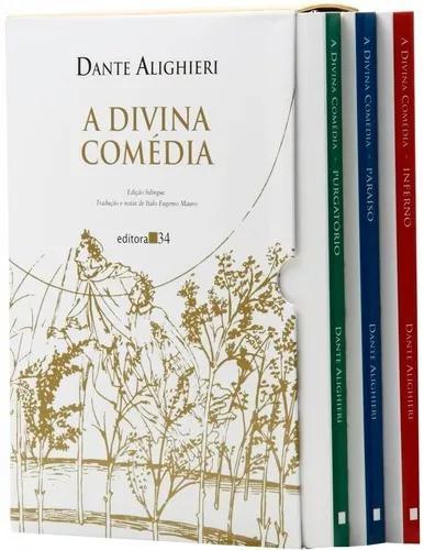 Livro: a divina comédia - 3 volumes - edição bilíngue -