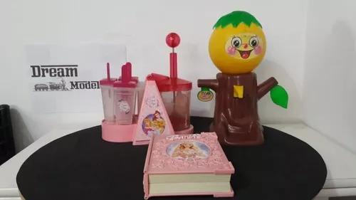 Lote de brinquedos antigos - barbie, princesas e laranjinha