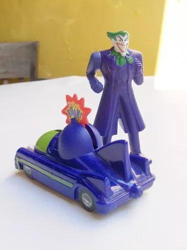 Mini boneco coringa batman brinquedo antigo mc donalds