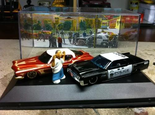 Mini low rider police metal brinquedo antigo hot wheels 1/64