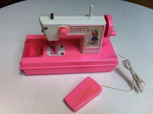 Mini máquina costura boneca brinquedo antigo plast durham