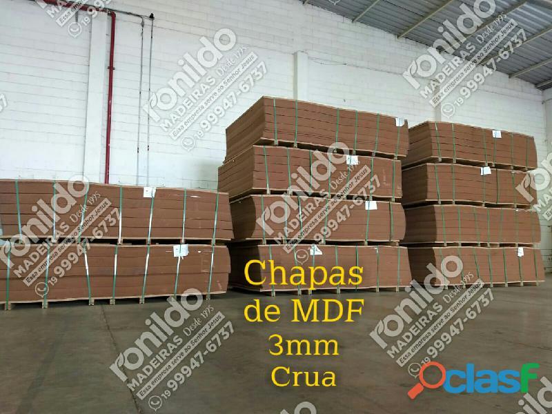 Chapas de mdf. 3mm (crua)