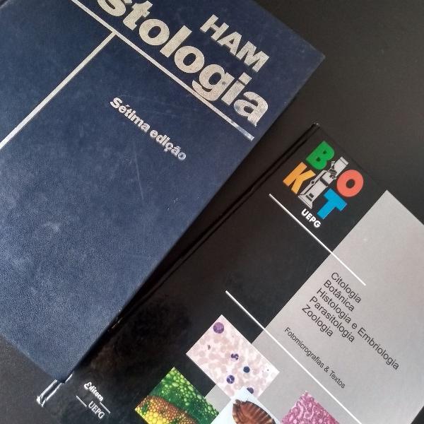 Kit de livros de histologia e embriologia