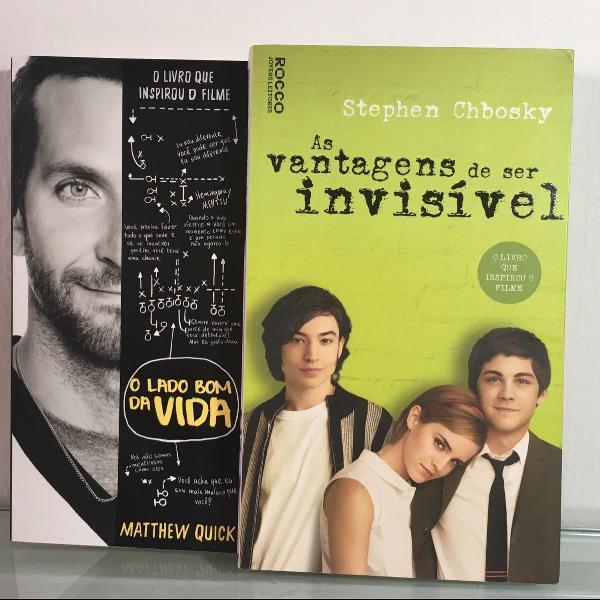 Kit de livros o lado bom da vida + as vantagens de ser