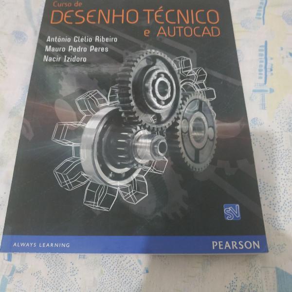 Livro curso de desenho técnico e autocad
