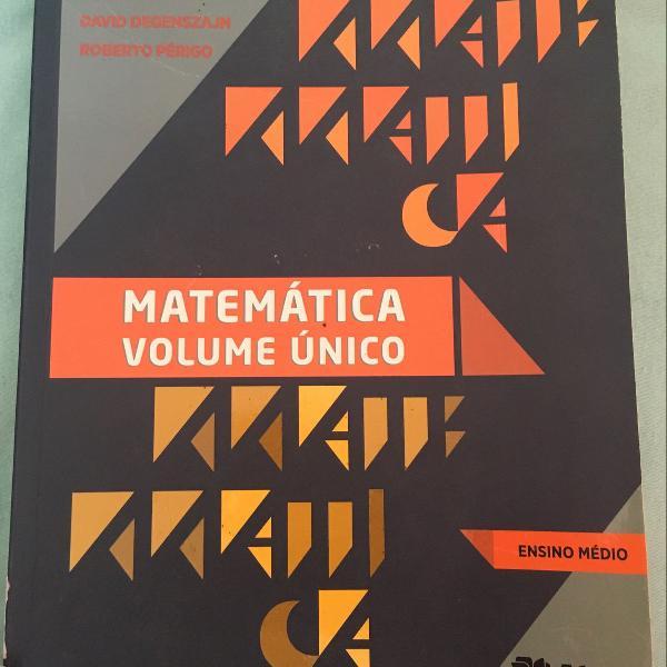 Livro de matemática volume único