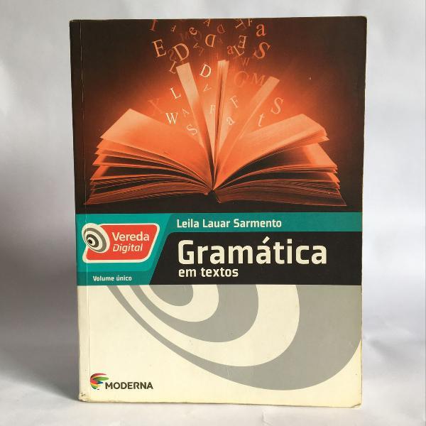 Livro gramática em textos moderna vereda digital