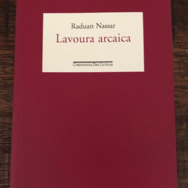 Livro - lavoura arcaica - raduan nassar