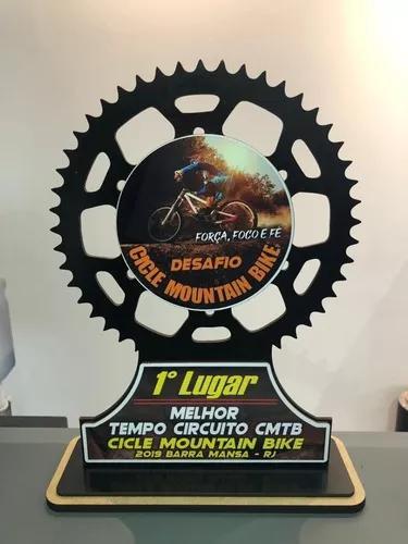 10 troféus mountain bike, bicicleta personalizados