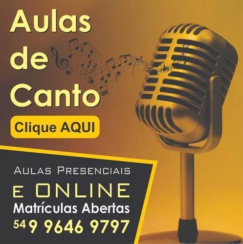 Aulas particulares de canto online ao vivo - matricule-se