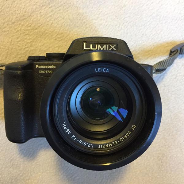 Câmera digital panasonic lumix dmc-fz20 lente fixa leica