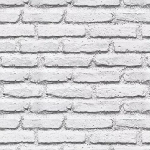 Papel De Parede 3d Tijolos Branco Antigo Vintage Lavável