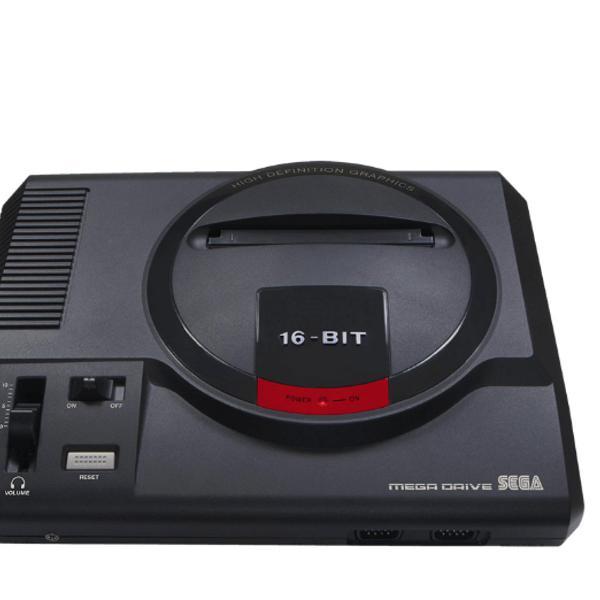 Console mega drive +joystick + cartão sd com 22 jogos