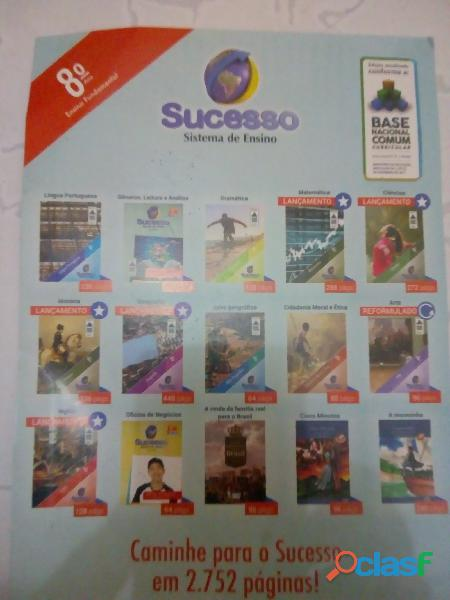 Kit coleção livros sistema de ensino sucesso 8° oitavo ano