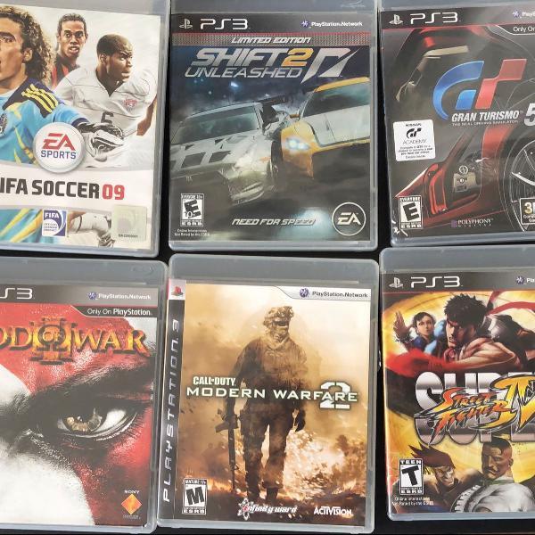 Kit com 18 jogos originais para ps3