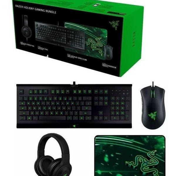 Kit razer holiday bundle (mouse + teclado + fone + pad)