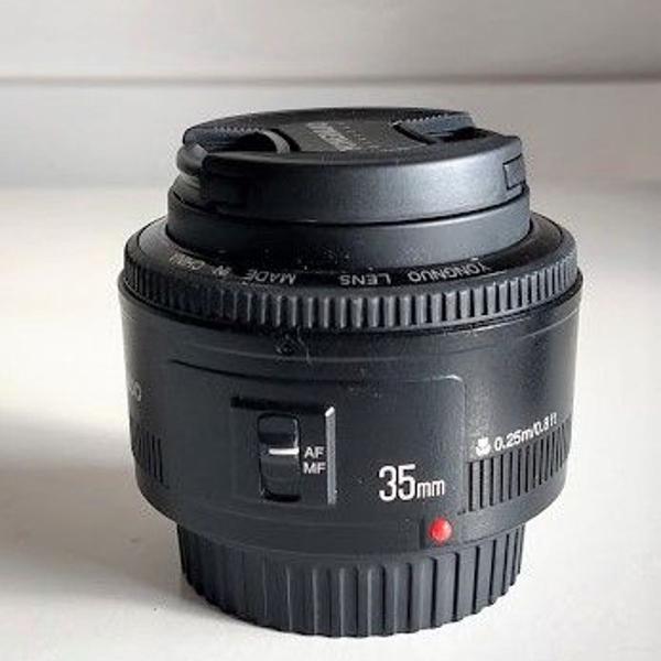 Lente yongnuo yn 35mm f 2 p/ canon 70d t6i 7d 5d t5i t6i t5