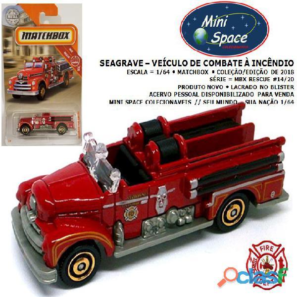 Matchbox seagrave veículo de bombeiros 1/64