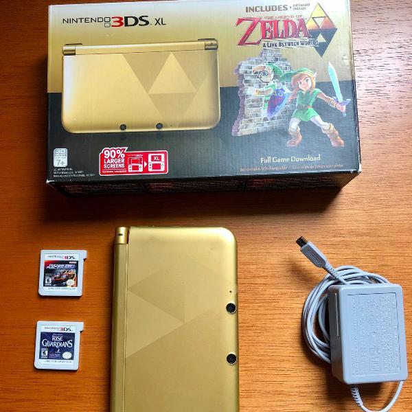 Nintendo 3ds xl edição limitada zelda desbloqueado.