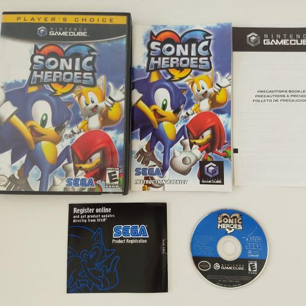 Sonic heroes original americano para nintendo gamecube