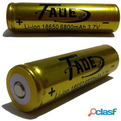 Bateria taue 18650 8200mah 3.7v li-ion - recarregável