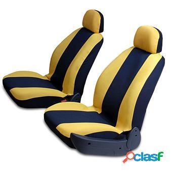 Capa para bancos esportiva pick-ups em malha amarela e preta