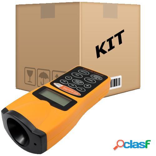 Kit 10 trena eletrônica digital ultra-sônica com mira laser até 18m